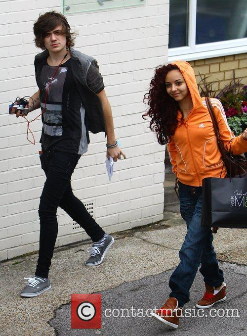 Frankie Cocozza and Jade Thirwell arrive at the...