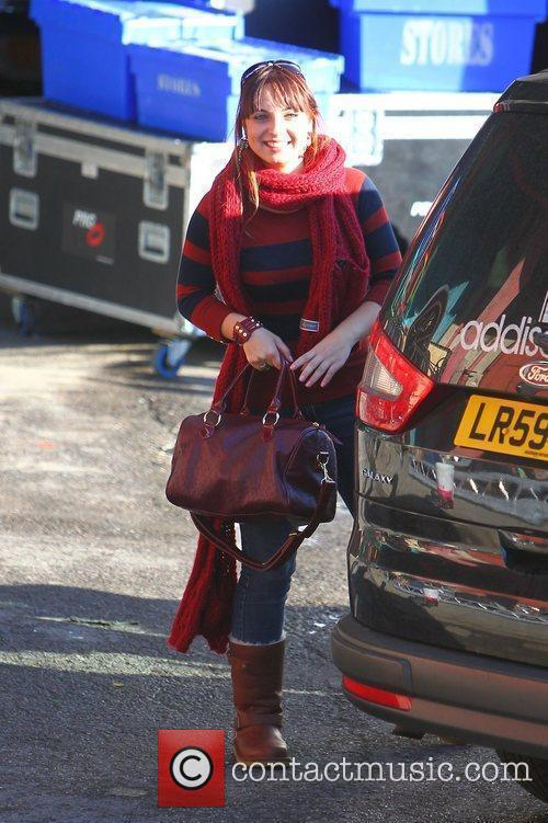 sophie habibis arrives at the x factor 3580822