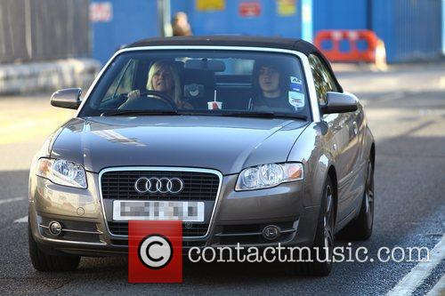 frankie cocozza arrives at the x factor 3580986