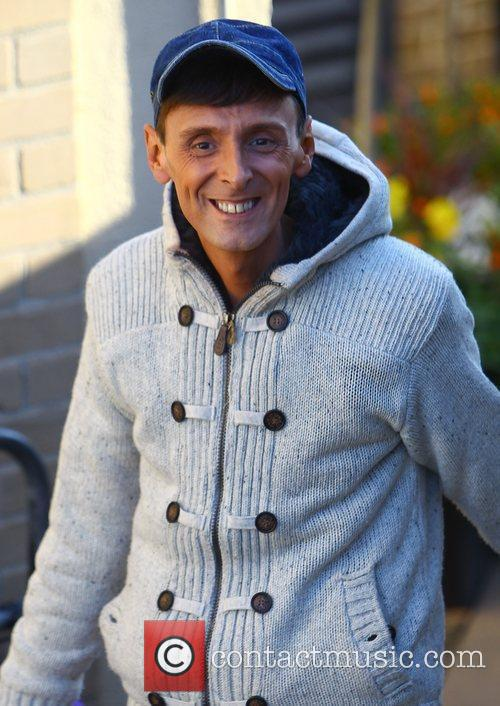 johnny robinson arrives at the x factor 3580994