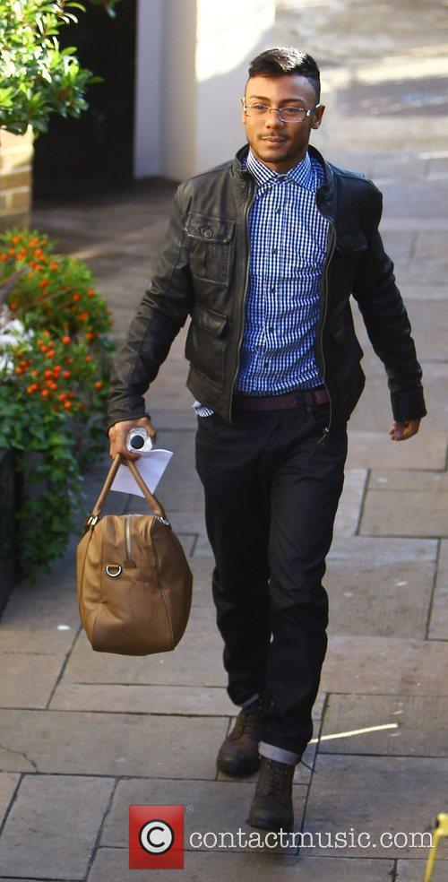 marcus collins arrives at the x factor 3580947