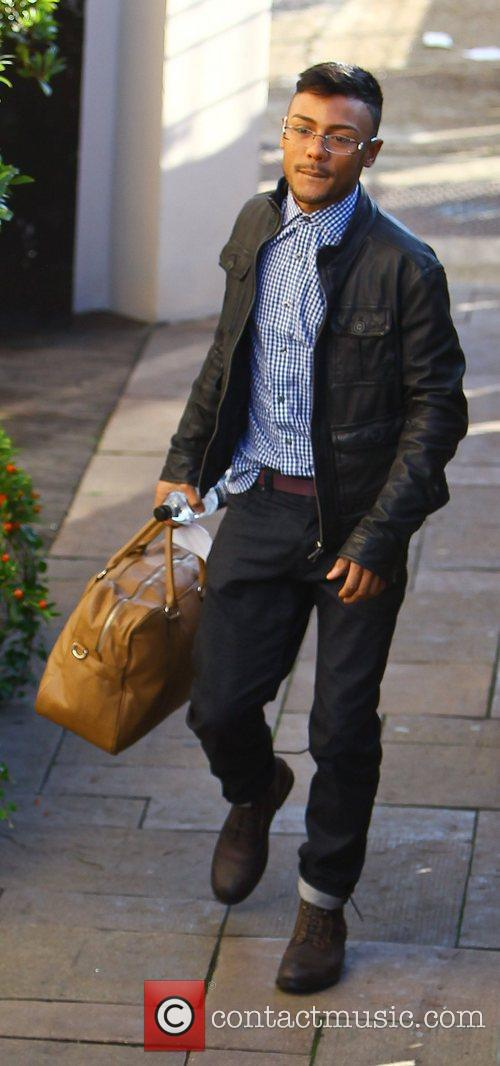 marcus collins arrives at the x factor 3580975