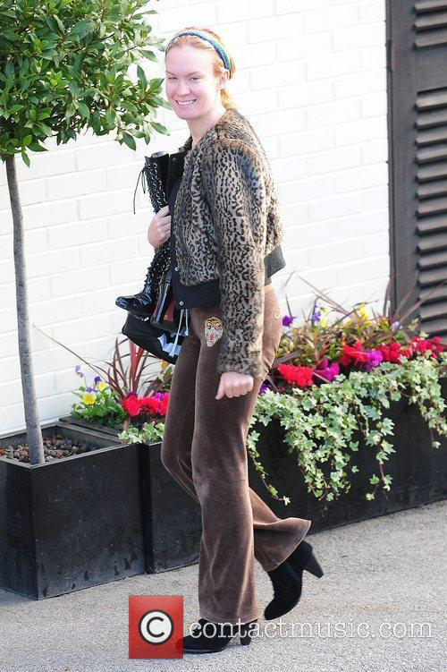 Kitty Brucknell 'X Factor' finalists at the studios...