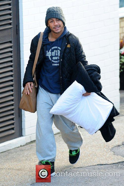 Marcus Collins 'X Factor' finalists at the studios...