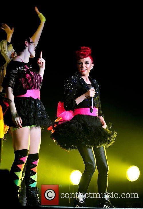 Cher Lloyd performing after falling ill last night...
