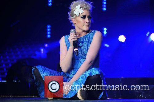 Katie Waissel,  performing at 'The X Factor...