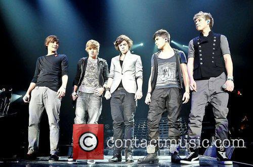 One Direction,  performing at 'The X Factor...