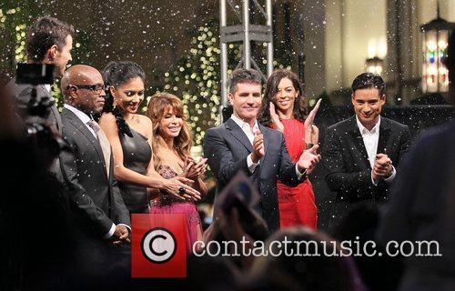 Steve Jones, Mario Lopez, Nicole Scherzinger, Paula Abdul, Simon Cowell, Terri Seymour and The X Factor 1