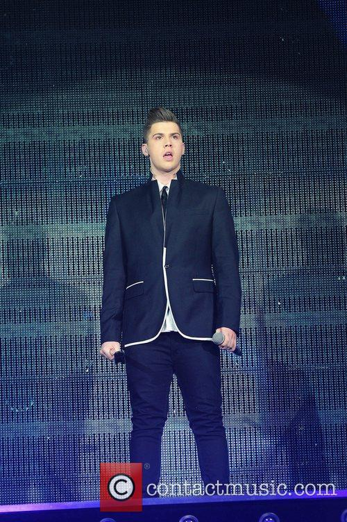 Aiden Grimshaw,  performing at The X Factor...