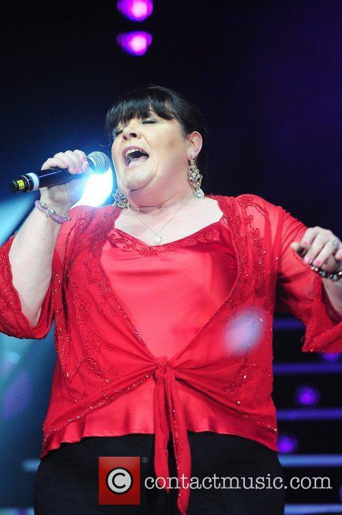 Mary Byrne,  performing at The X Factor...