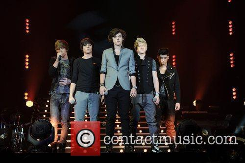 One Direction,  performing at The X Factor...