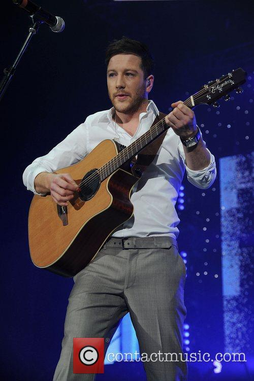 Matt Cardle,  performing at The X Factor...