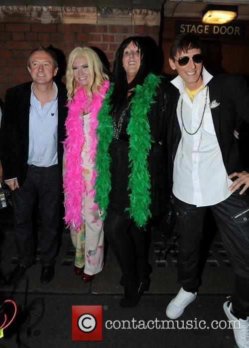 Louis Walsh with X Factor Finalists Kitty Brucknell,...
