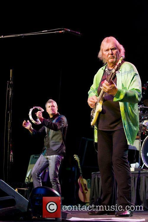 Benoit David (left) and Chris Squire of the...