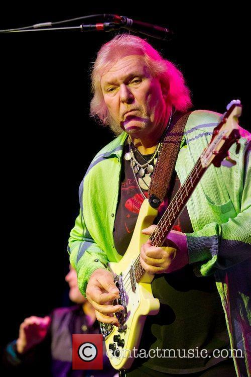 Chris Squire of the progressive rock band Yes,...