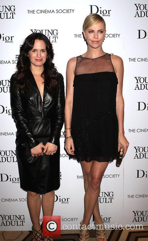 Elizabeth Reaser and Charlize Theron