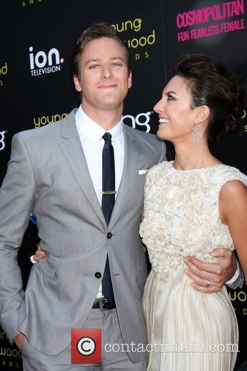 Armie Hammer and his wife Elizabeth Chambers The...