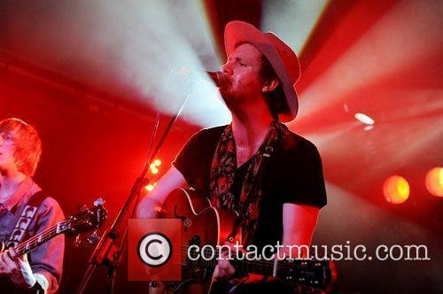 Matt Chipchase of Young Rebel Set performing at...