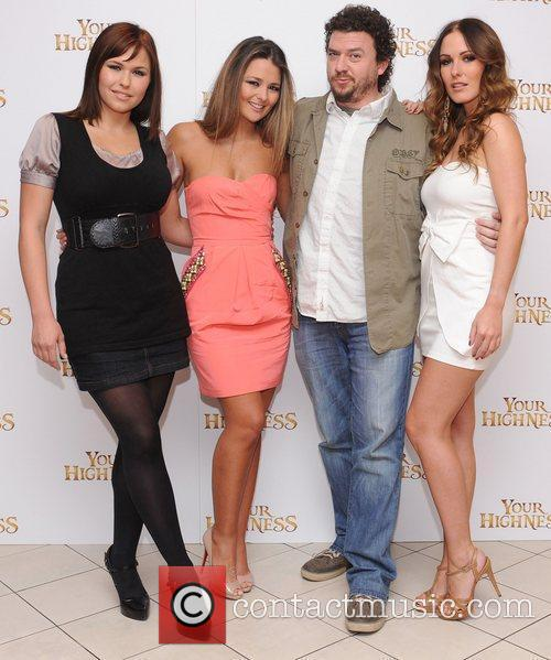 Danny McBride with Eva Wyrwal, Paige Tyler and...