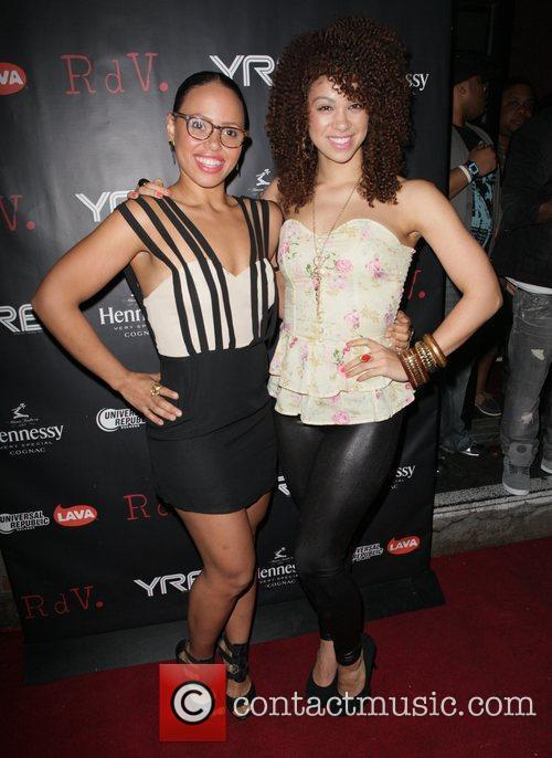 Elle Varner and Daisha Graf attend YRB magazine...