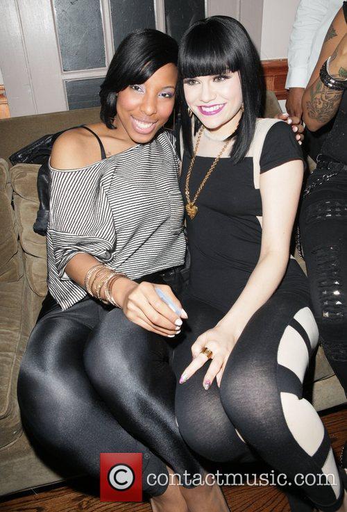Tiffany Stevenson and Jessie J attend YRB magazine...