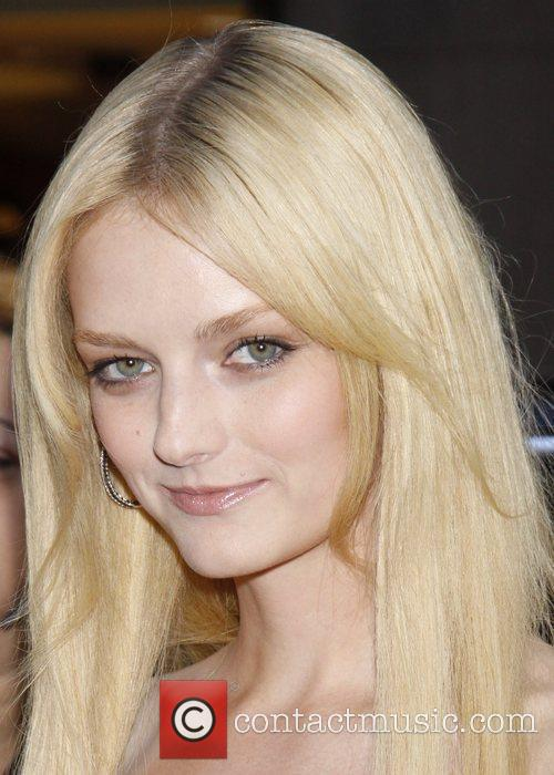 Lydia Hearst wearing a dress from H &...
