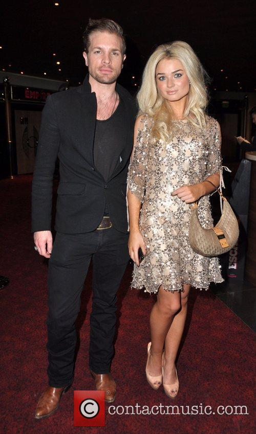 Emma Rigby and guest at the UK premiere...