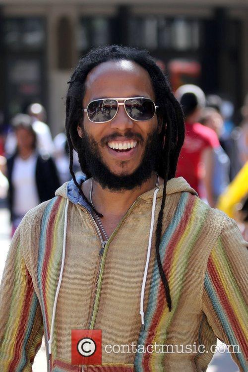David Nesta Ziggy Marley arrives at The Grove...