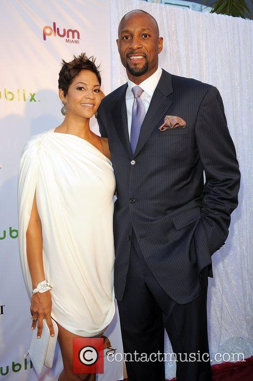 Tracy Mourning,Alonzo Mourning arrives at Zo Summer Groove...