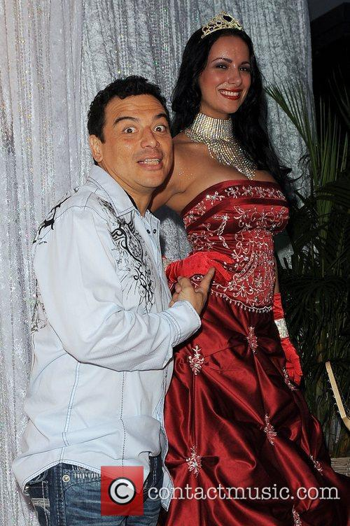 Carlos Mencia arrives at Zo Summer Groove Benefit...