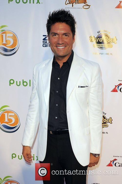 Louis Aguirre arrives at Zo Summer Groove Benefit...