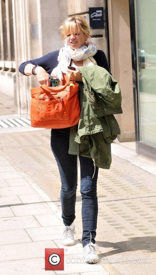 Zoe Ball leaving the BBC Radio Two studios...