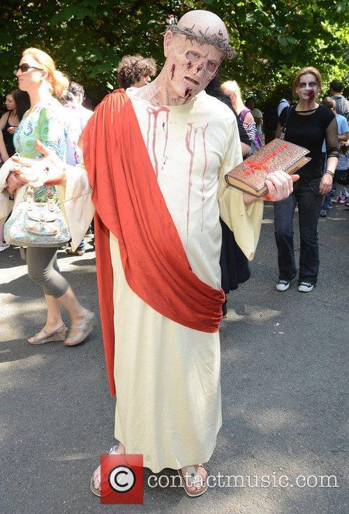 Derek Dornan Dublin Zombie Walk 2011 held at...