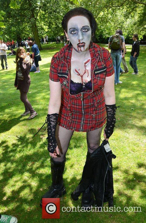 Dublin Zombie Walk 2011 held at St. Stephens...