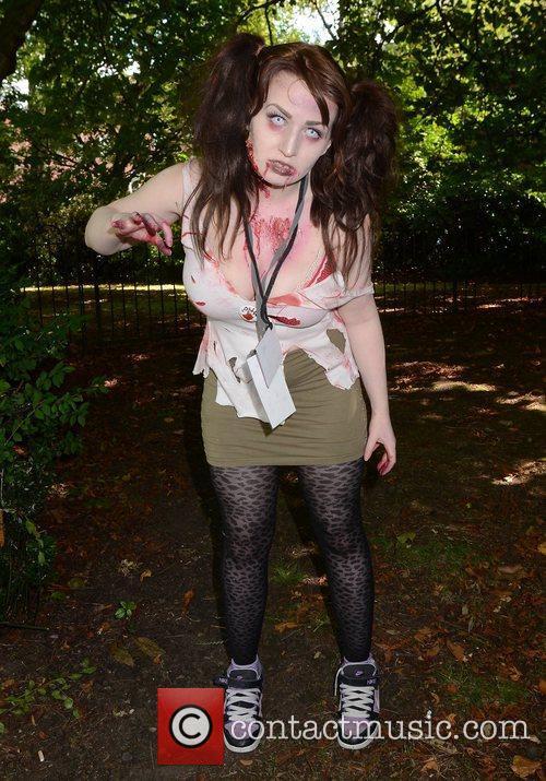 Aoife Rooney Dublin Zombie Walk 2011 held at...