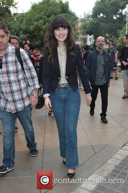 Zooey Deschanel at The Grove to film an...