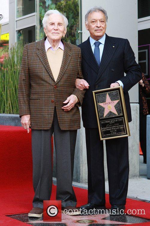 Kirk Douglas and Zubin Mehta Maestro Zubin Mehta...