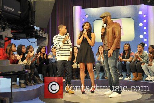 Tyler Perry with hosts Bow Wow and Kimberly...