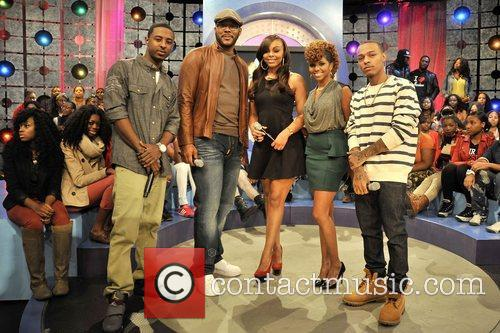 Tyler Perry with hosts Bow Wow, Kimberly 'Paigion'...