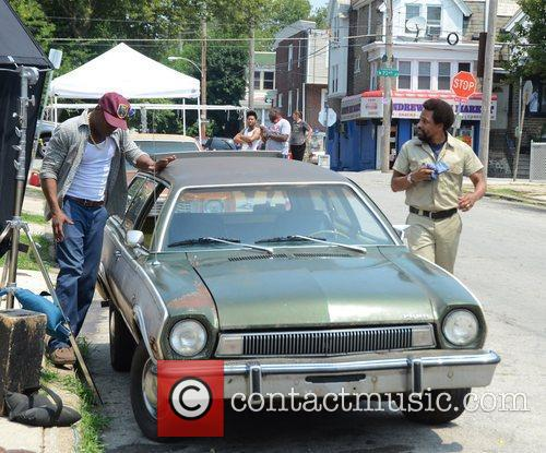 Film Set for the movie '1982' in West...