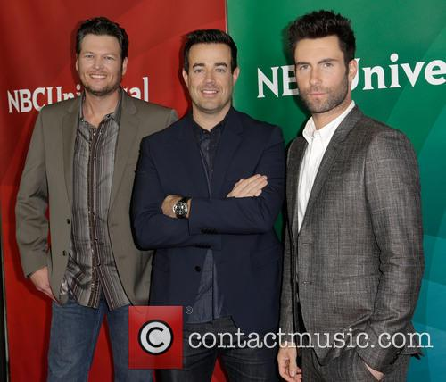 Blake Shelton, Carson Daly and Adam Levine 1