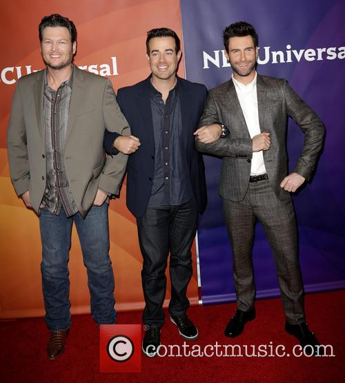 Blake Shelton, Carson Daly and Adam Levine 4