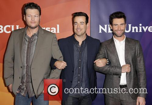 Blake Shelton, Carson Daly and Adam Levine 5