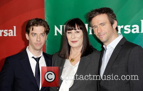 Christian Borle, Anjelica Huston and Jack Davenport 5