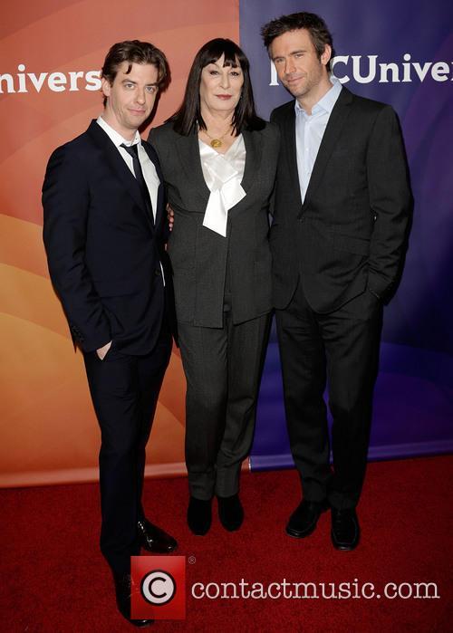 Christian Borle, Anjelica Huston and Jack Davenport 1