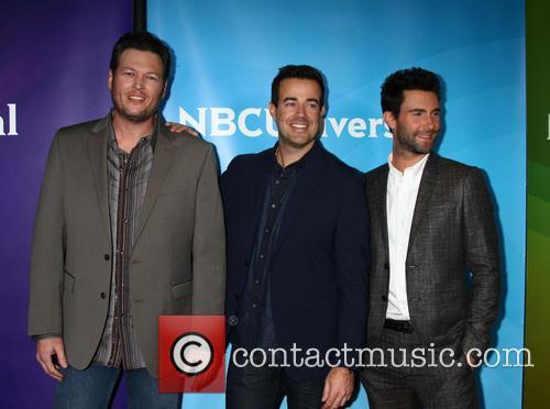 Blake Shelton, Carson Daly and Adam Levine 1