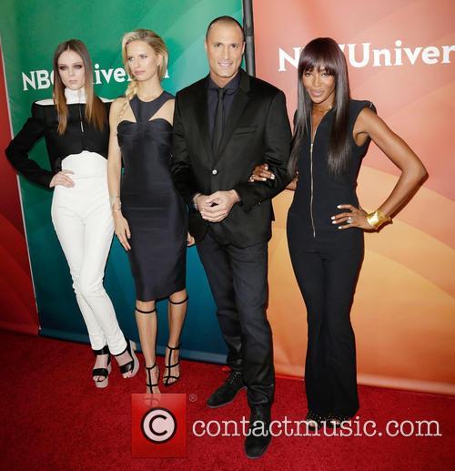 Coco Rocha, Karolina Kurkova, Nigel Barker and Naomi Campbell 2