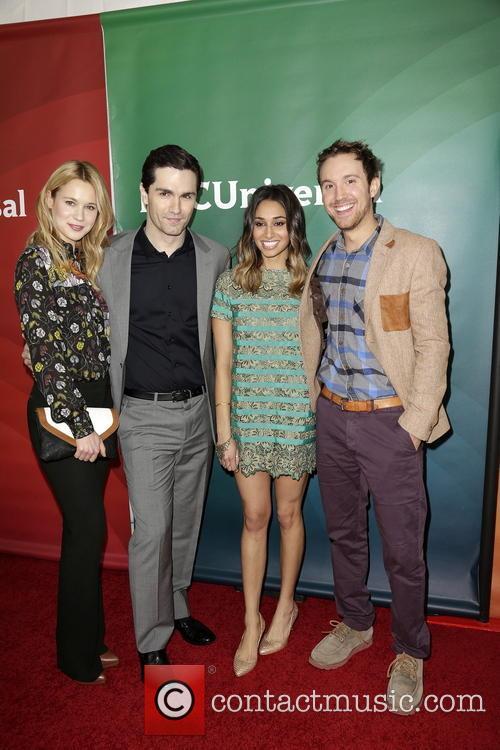 Kristen Hager, Sam Witwer, Meaghan Rath and Sam Huntington 5