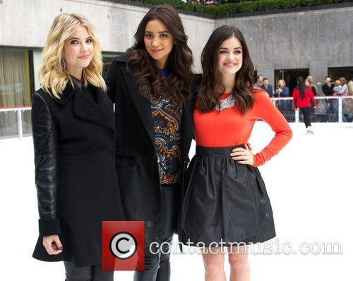 Ashley Benson, Shay Mitchell, Lucy Hale, Rockefeller Center