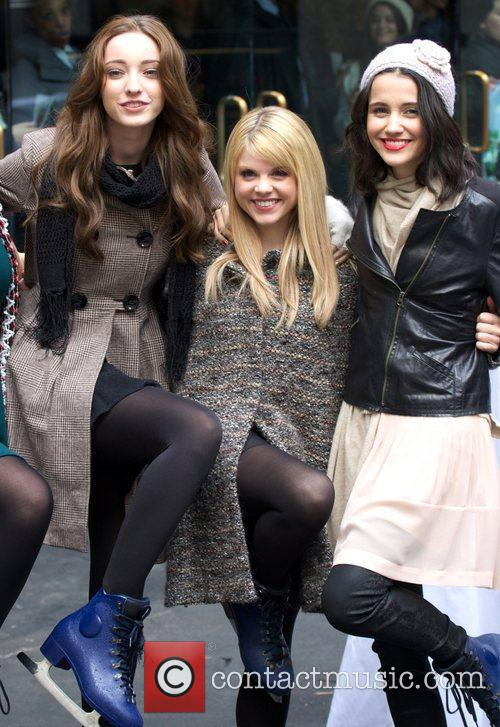 Emma Dumont, Bailey Buntain, Julia Goldani Telles and Rockefeller Center